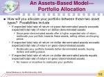 an assets based model portfolio allocation