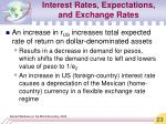 interest rates expectations and exchange rates23