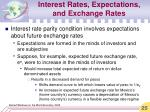interest rates expectations and exchange rates25