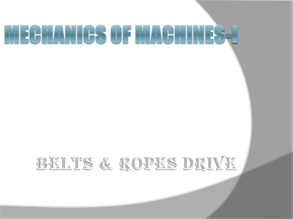 mechanics of machines i l.