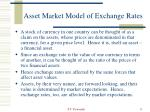 asset market model of exchange rates
