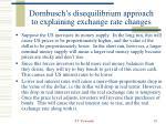 dornbusch s disequilibrium approach to explaining exchange rate changes