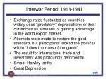 interwar period 1918 1941