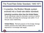 the fixed rate dollar standard 1945 1971