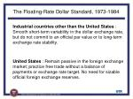the floating rate dollar standard 1973 198414