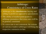 arbitrage consistency of cross rates