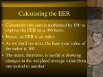 calculating the eer37