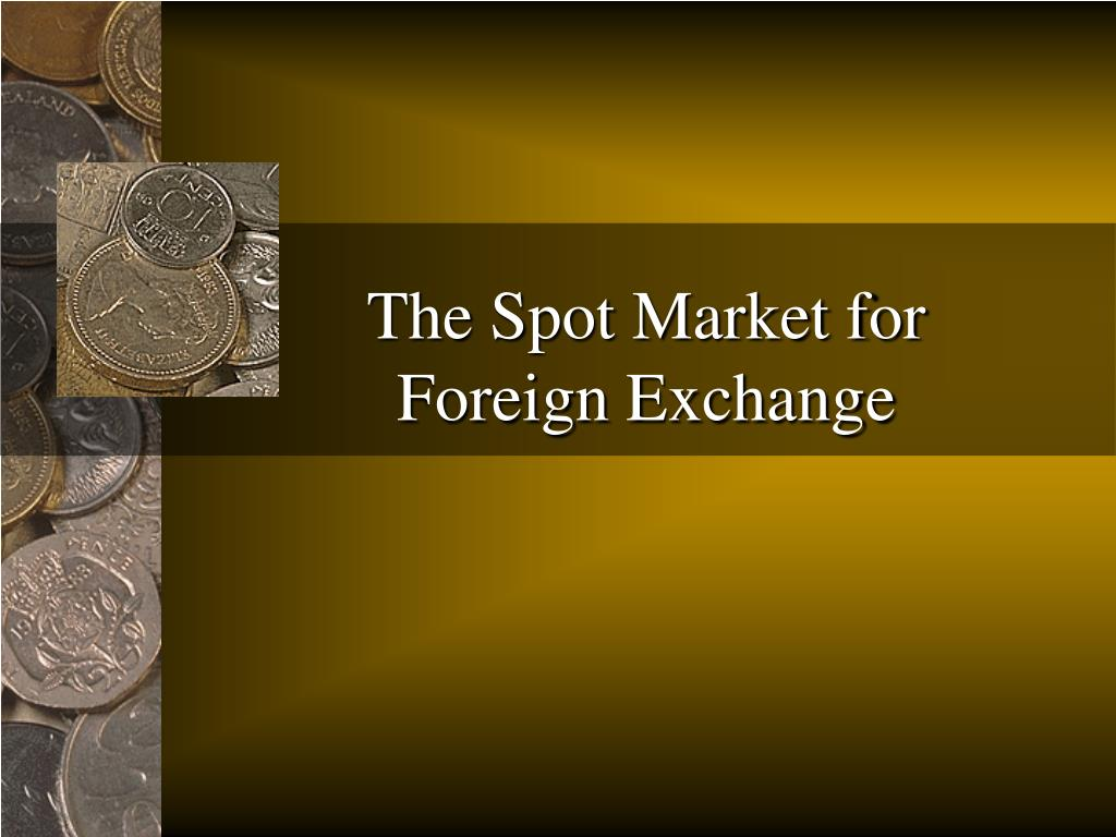 the spot market for foreign exchange l.