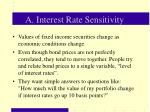 a interest rate sensitivity