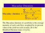macaulay duration36