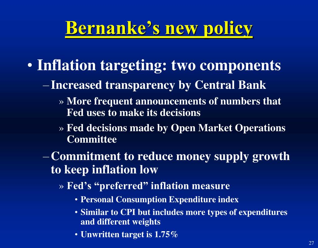 Bernanke's new policy