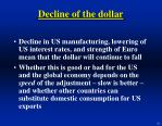 decline of the dollar26