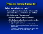 what do central banks do19