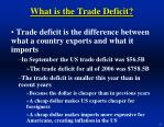 what is the trade deficit