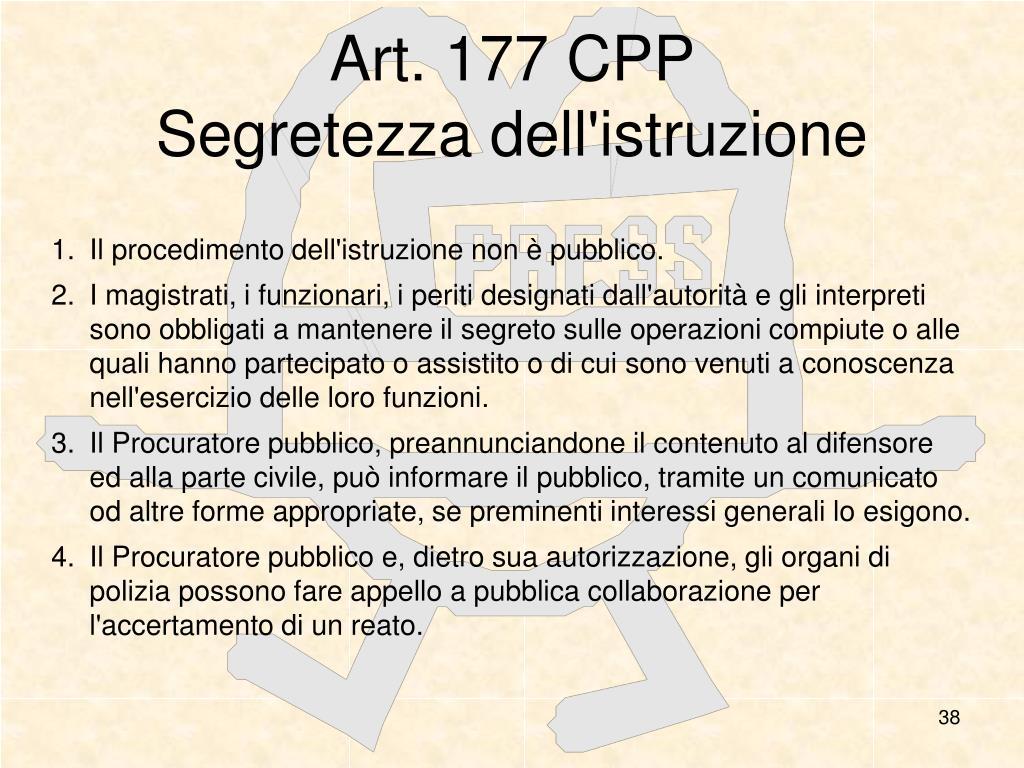 Art. 177 CPP