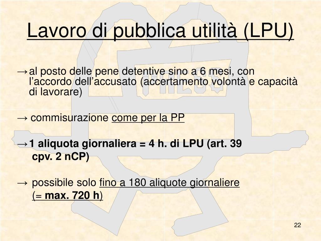 Lavoro di pubblica utilità (LPU)