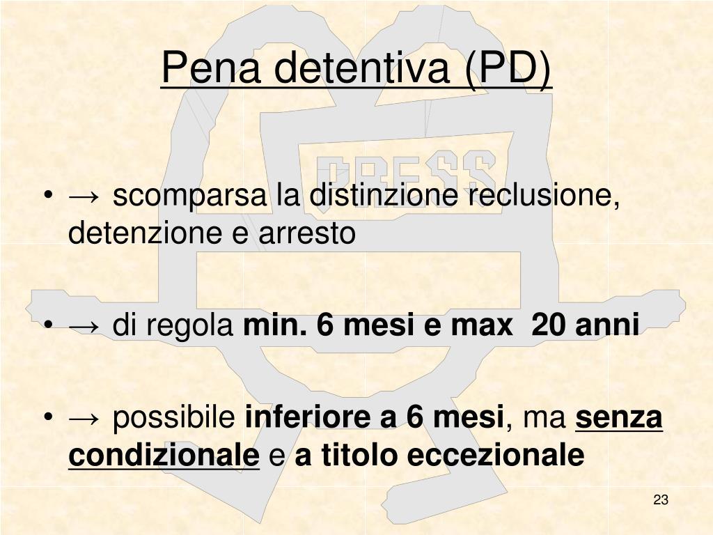 Pena detentiva (PD)