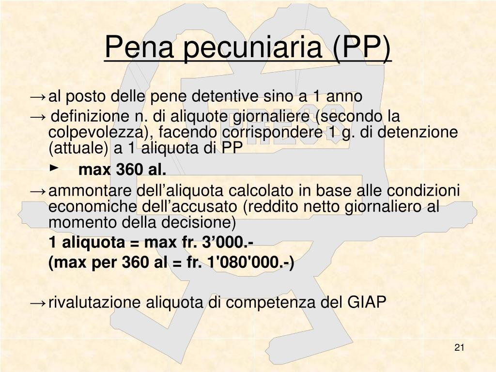 Pena pecuniaria (PP)