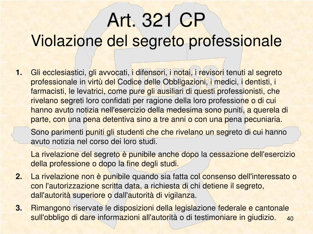 Art. 321 CP
