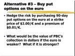 alternative 3 buy put options on the euro