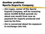 another problem sports exports company