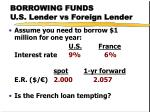 borrowing funds u s lender vs foreign lender