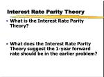 interest rate parity theory