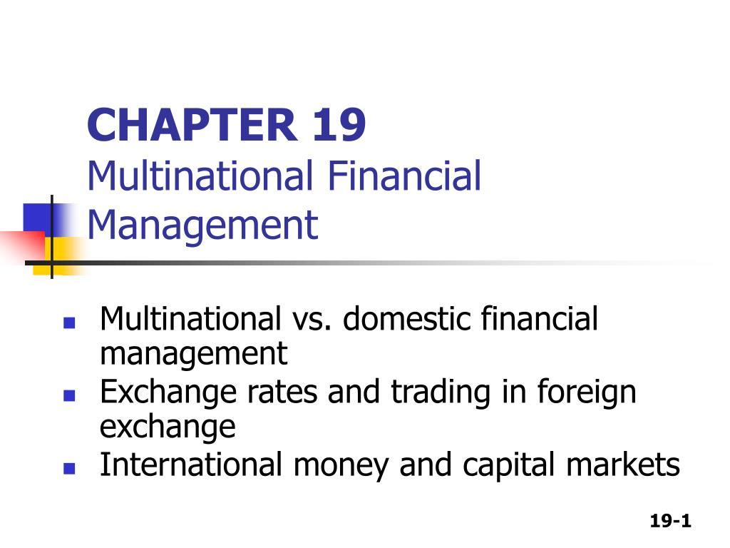 chapter 19 multinational financial management l.