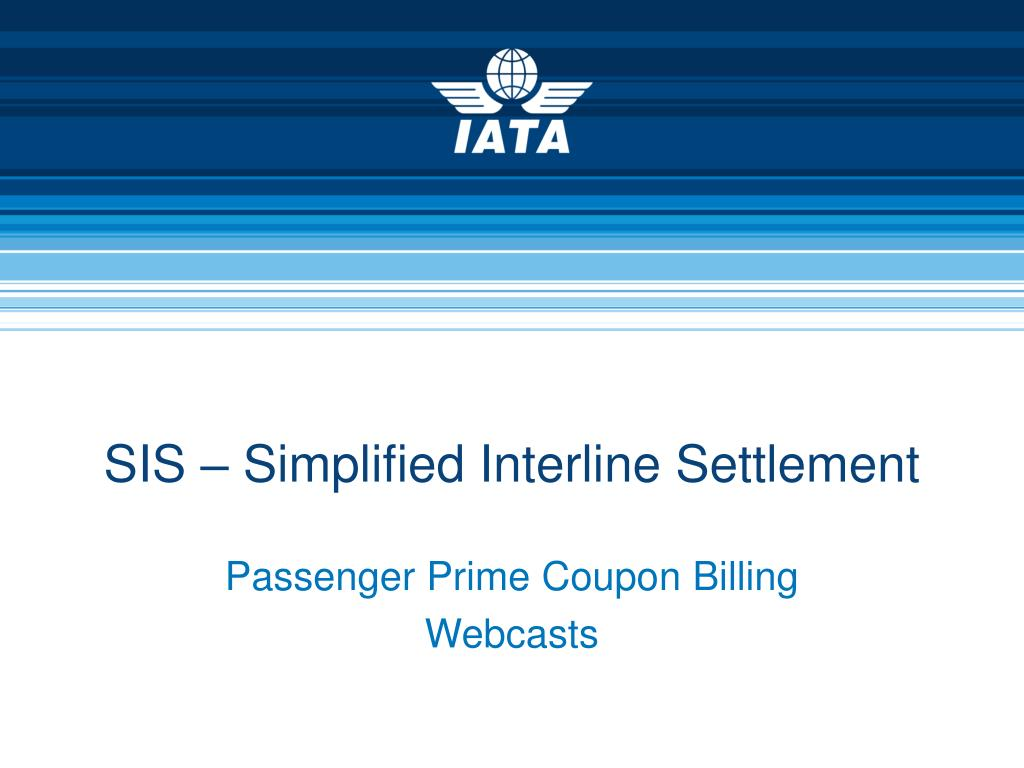 sis simplified interline settlement l.