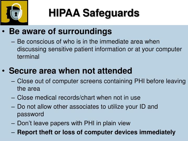 HIPAA Safeguards