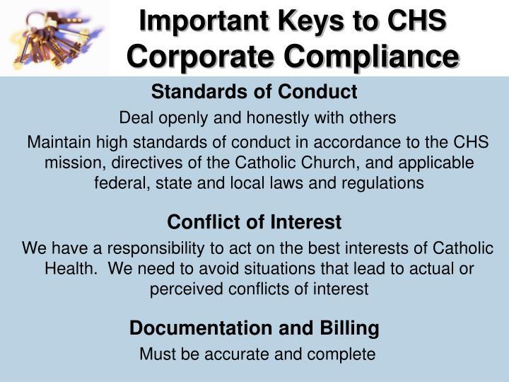 Important Keys to CHS