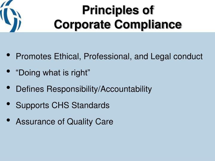 Principles of corporate compliance