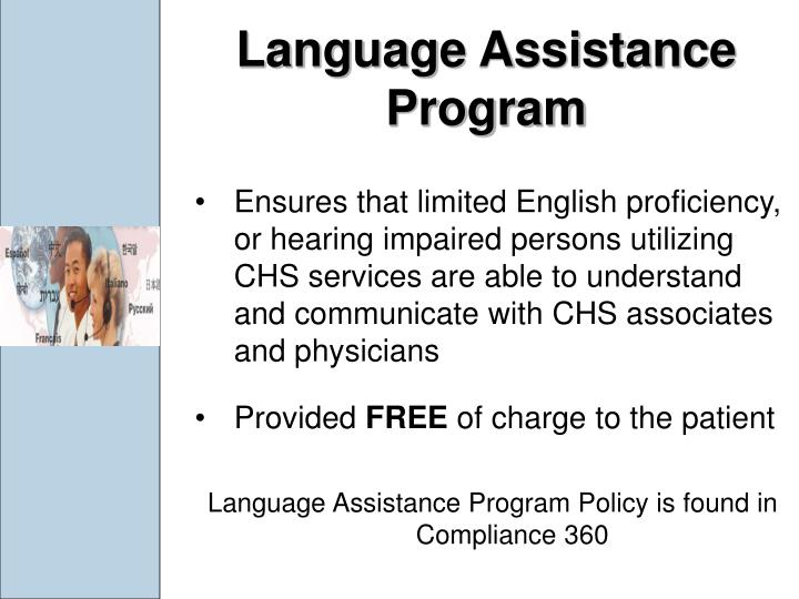 Language Assistance Program