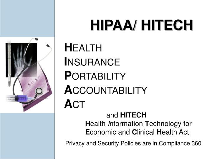 HIPAA/ HITECH