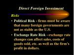 direct foreign investment47