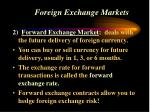 foreign exchange markets30