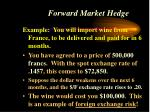 forward market hedge
