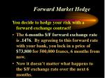 forward market hedge32