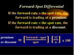 forward spot differential35