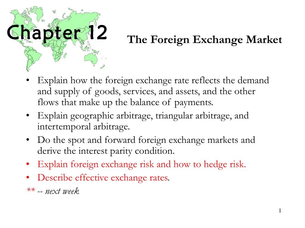 the foreign exchange market l.