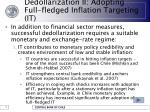 dedollarization ii adopting full fledged inflation targeting it16