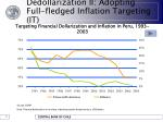 dedollarization ii adopting full fledged inflation targeting it27