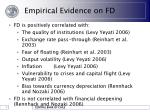empirical evidence on fd8