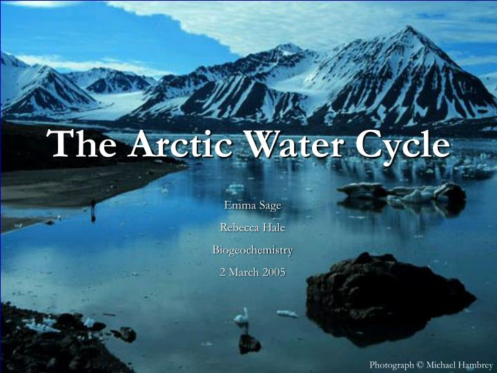 the arctic water cycle n.
