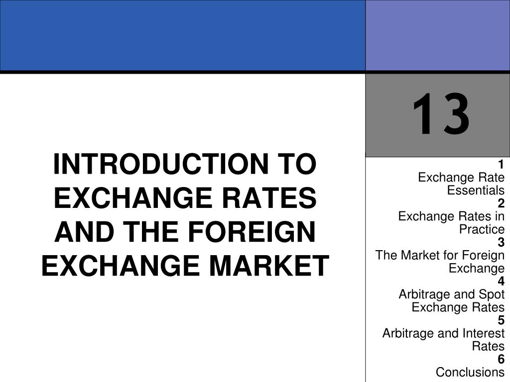 introduction to exchange rates and the foreign exchange market l.