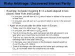 risky arbitrage uncovered interest parity52