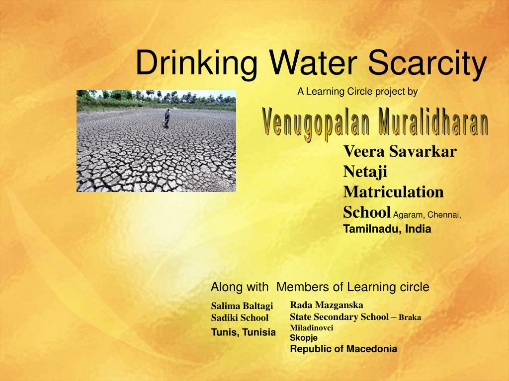 drinking water scarcity l.