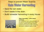steps to prevent water scarcity