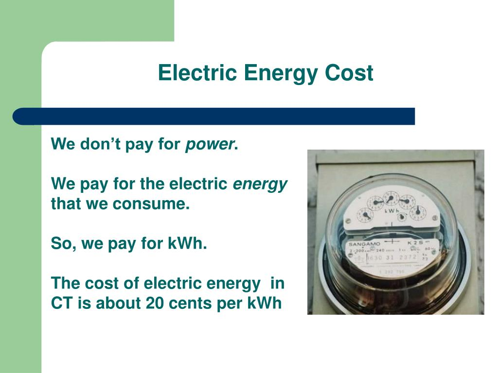 Electric Energy Cost