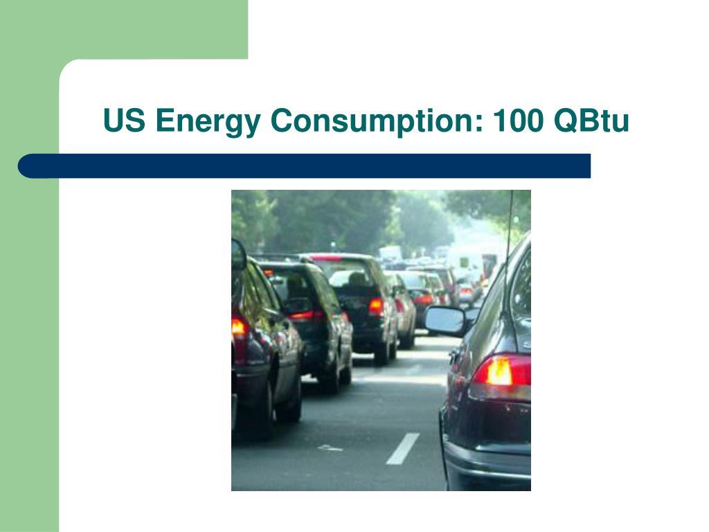 US Energy Consumption: 100 QBtu